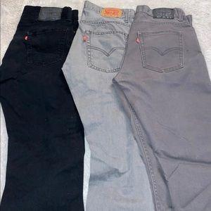 Levis 511 skinny jeans grey size 20